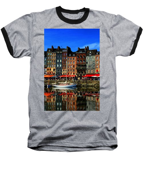 Reflections Honfleur France Baseball T-Shirt