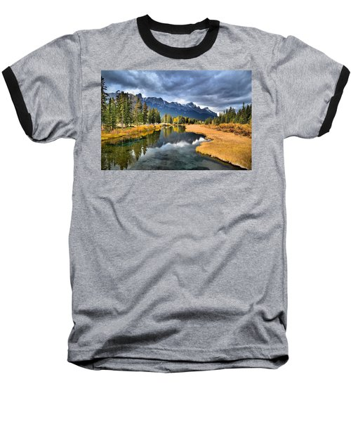 Reflections In Canmore Baseball T-Shirt