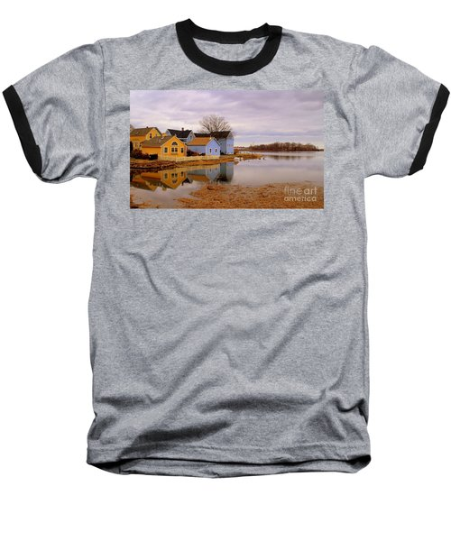 Reflections In The Harbor Baseball T-Shirt
