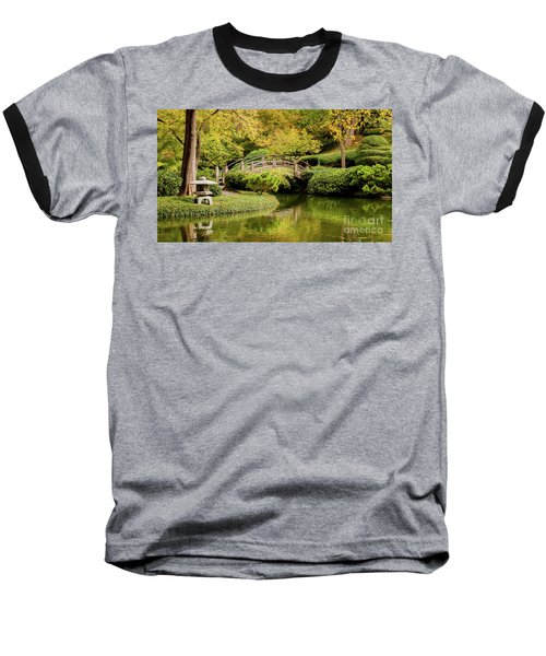 Baseball T-Shirt featuring the photograph Reflections In The Japanese Garden by Iris Greenwell