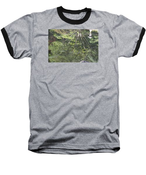 Reflections In The Japanese Gardens Baseball T-Shirt by Linda Geiger