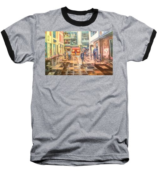 Reflections In The Pavement, Brown Street, Manchester Baseball T-Shirt