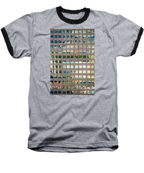 Reflections In Windows Of Office Building Baseball T-Shirt