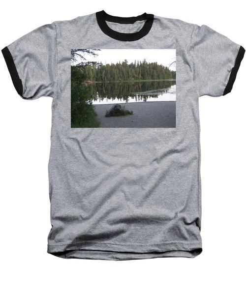 Baseball T-Shirt featuring the photograph Reflections Lake 1 by Barbara Yearty