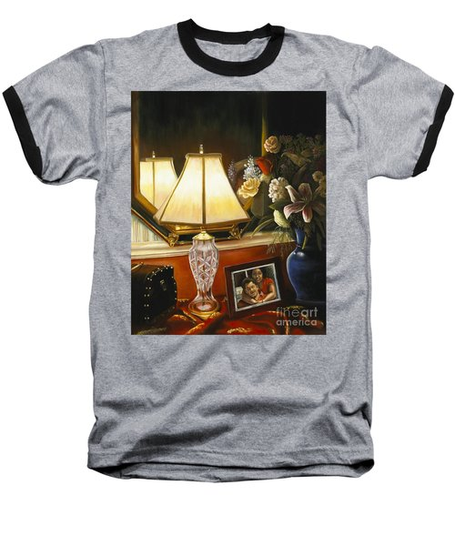 Baseball T-Shirt featuring the painting Reflections by Marlene Book
