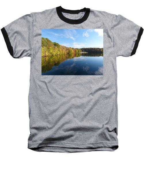 Reflections Of Autumn Baseball T-Shirt by Donald C Morgan