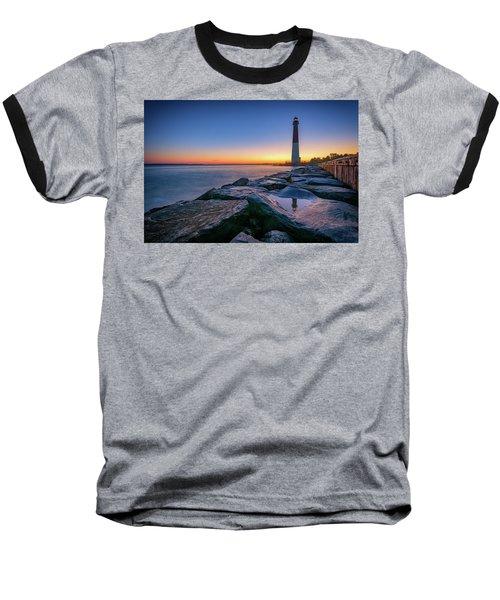 Reflections Of Barnegat Light Baseball T-Shirt