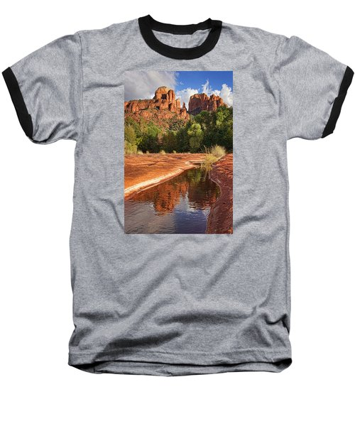 Reflections Of Cathedral Rock Baseball T-Shirt