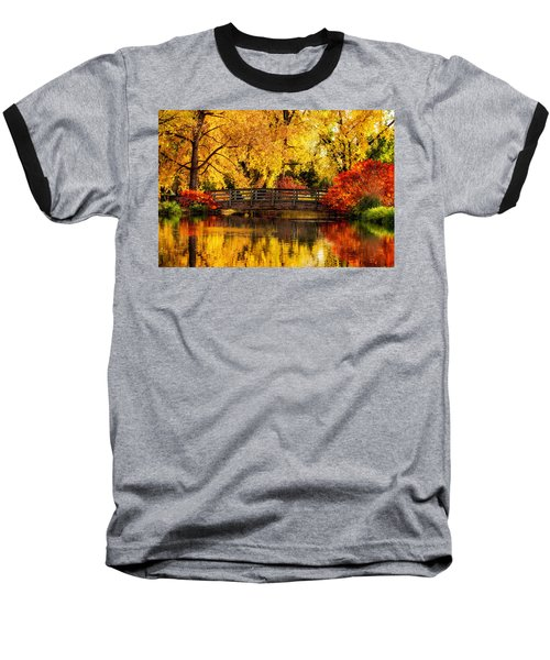 Baseball T-Shirt featuring the photograph Reflections Of Fall by Kristal Kraft