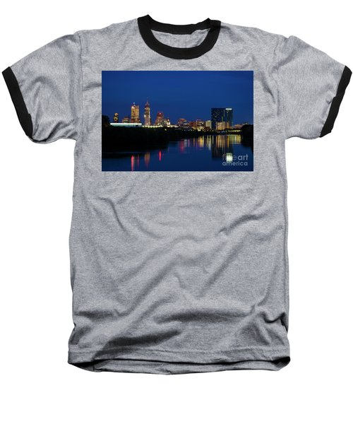 Baseball T-Shirt featuring the photograph Reflections Of Indy - D009911 by Daniel Dempster