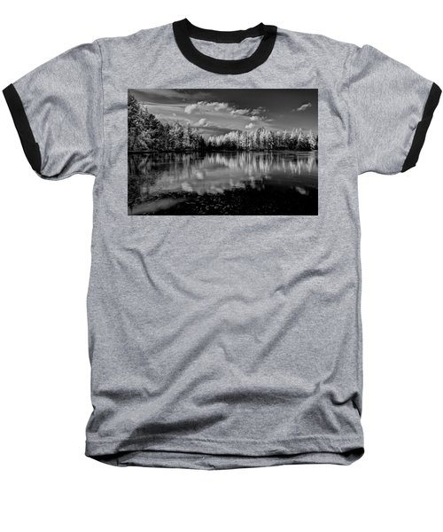 Reflections Of Tamaracks Baseball T-Shirt by David Patterson