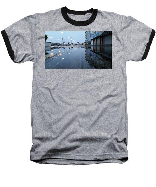 Reflections Of The Boardwalk Baseball T-Shirt by Robert Banach