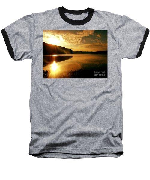 Reflections Of The Day Baseball T-Shirt by Scott D Van Osdol