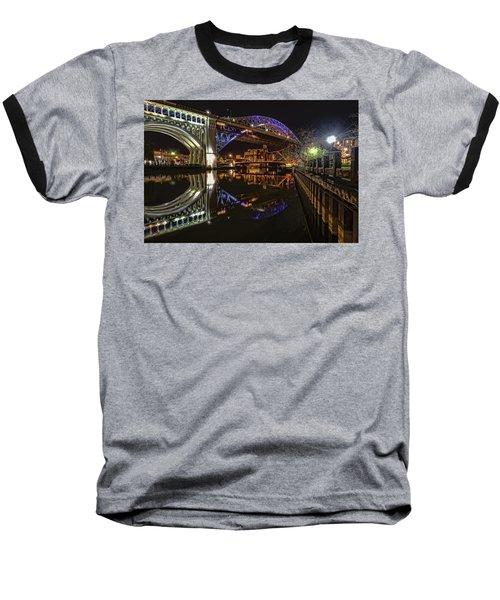 Reflections Of Veterans Memorial Bridge  Baseball T-Shirt