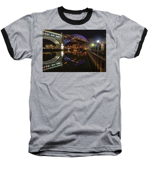 Reflections Of Veterans Memorial Bridge  Baseball T-Shirt