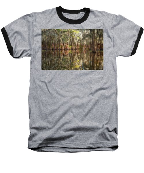 Reflections On The Bayou Baseball T-Shirt