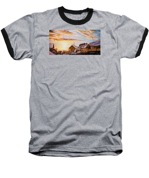 Reflections On The Snow Baseball T-Shirt