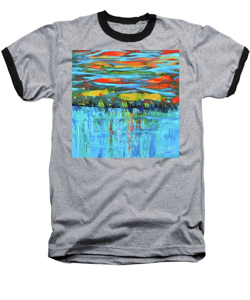 Reflections Sky And Landscape Abstract Baseball T-Shirt