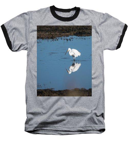 Reflections White Egret Baseball T-Shirt