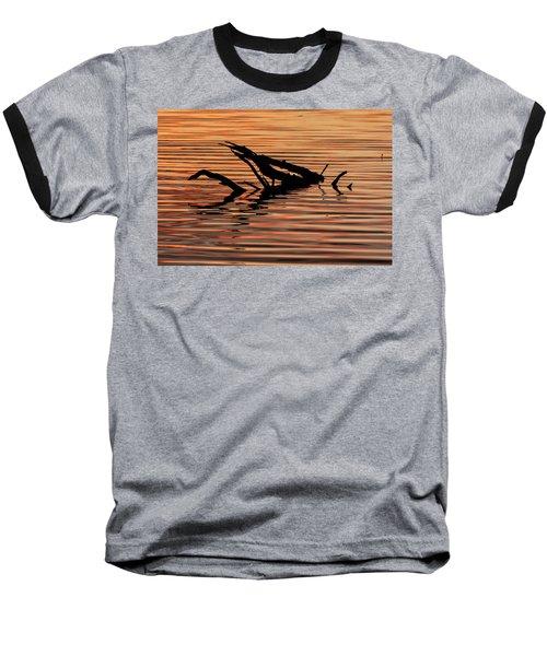 Reflective Abstract Baseball T-Shirt