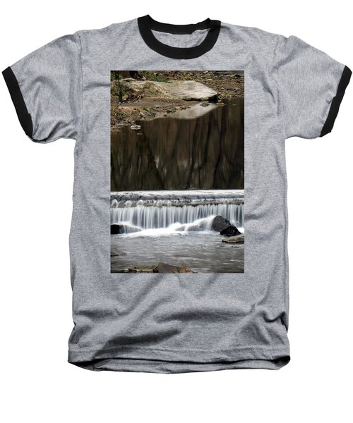Reflexions And Water Fall Baseball T-Shirt by Dorin Adrian Berbier