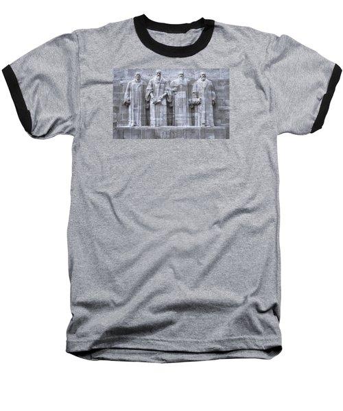 Reformers Wall, Geneva, Switzerland, Hdr Baseball T-Shirt