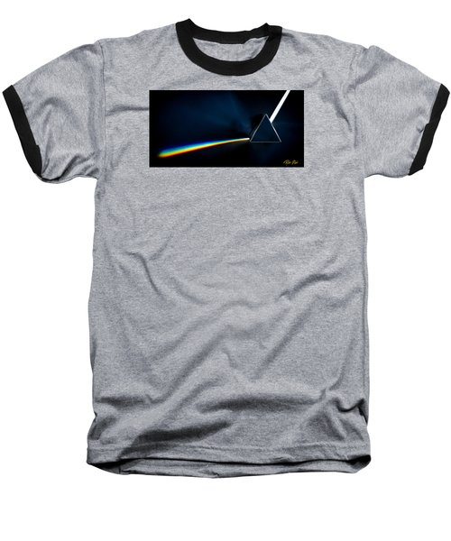 Refraction  Baseball T-Shirt by Rikk Flohr