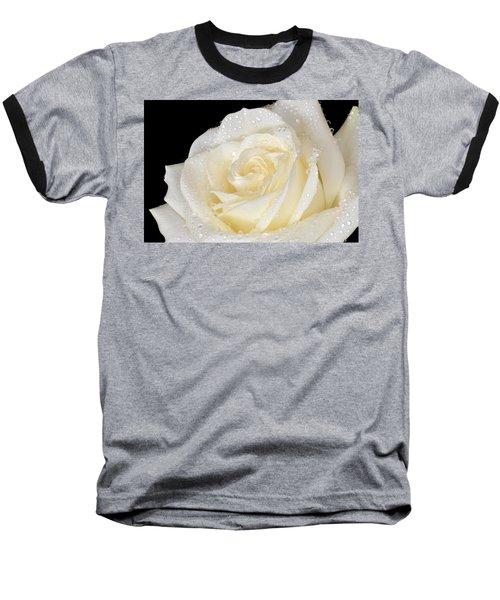 Refreshing Ivory Rose Baseball T-Shirt