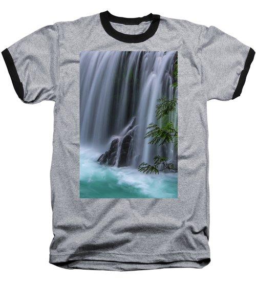 Refreshing Waterfall Baseball T-Shirt by Ulrich Burkhalter