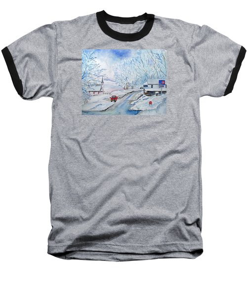Refuge From The Storm Baseball T-Shirt by Christine Lathrop
