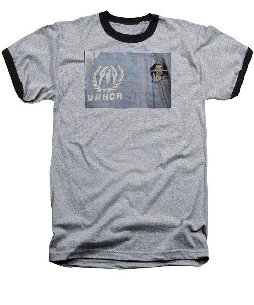Refugees Syria Baseball T-Shirt by Vikram Singh