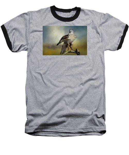 Regal Bird Baseball T-Shirt by Barbara Manis