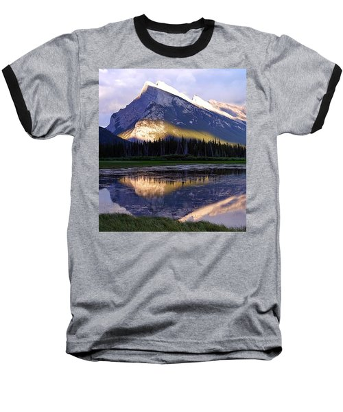 Mount Rundle Baseball T-Shirt by Heather Vopni