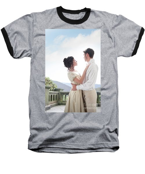 Regency Couple Embracing On The Terrace Baseball T-Shirt