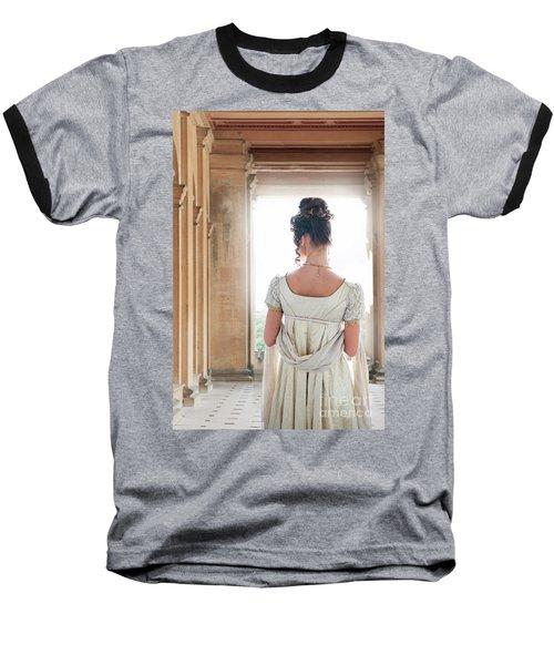 Regency Woman Under A Colonnade Baseball T-Shirt
