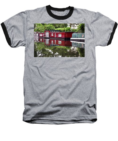 Regent Houseboats Baseball T-Shirt by Keith Armstrong