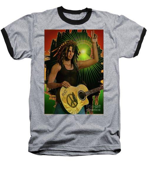 Reggae Peace Man Baseball T-Shirt