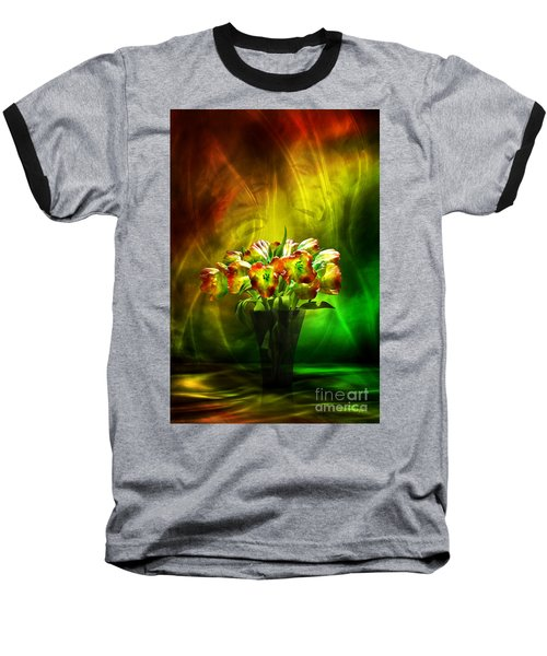 Reggae Tulips Baseball T-Shirt by Johnny Hildingsson