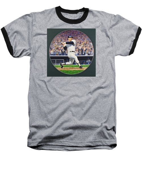 Reggie Jackson Baseball T-Shirt by Cliff Spohn