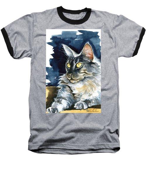 Regina - Maine Coon Painting Baseball T-Shirt