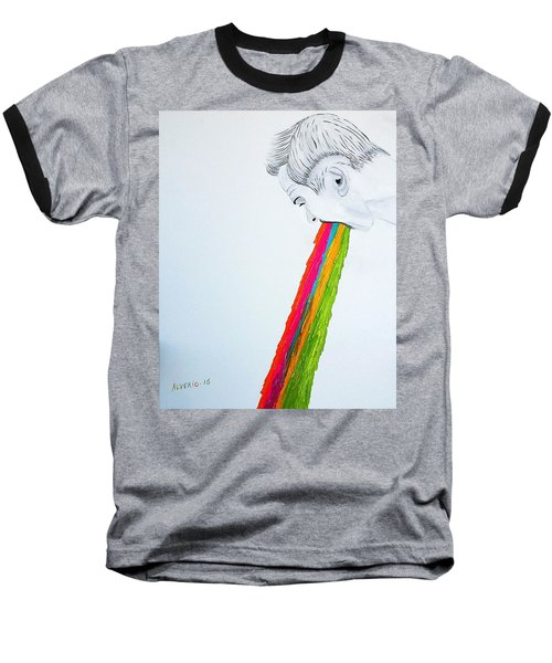 Baseball T-Shirt featuring the painting Regurgitate by Edwin Alverio