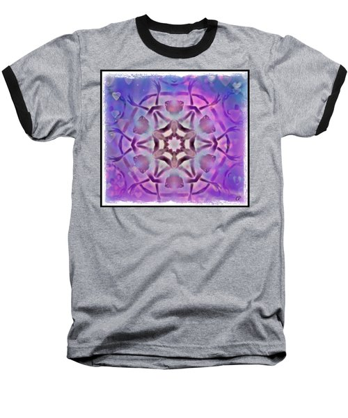 Reiki Infused Healing Hands Mandala Baseball T-Shirt
