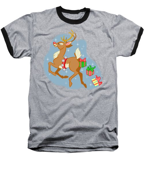 Reindeer Gifts Baseball T-Shirt by J L Meadows
