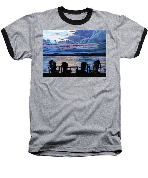 Relax Baseball T-Shirt by Marilyn McNish