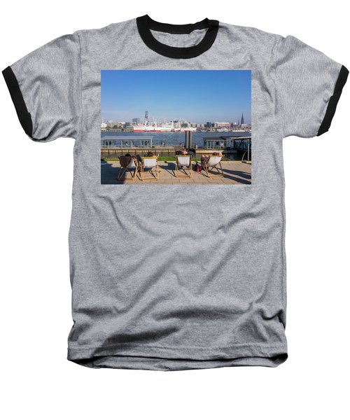 Relax On The Elbe Baseball T-Shirt