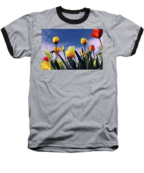 Relax With The Tulips Baseball T-Shirt