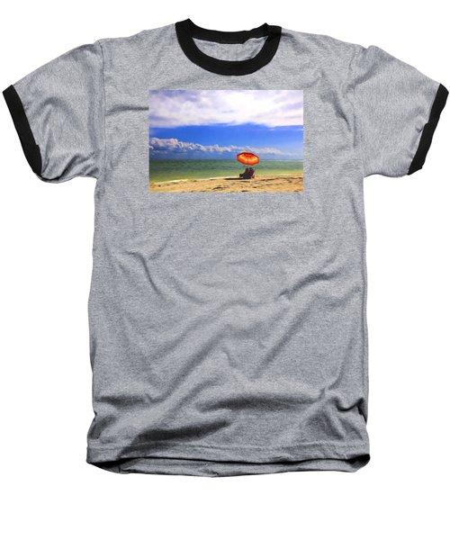Baseball T-Shirt featuring the digital art Relaxing On Sanibel by Sharon Batdorf