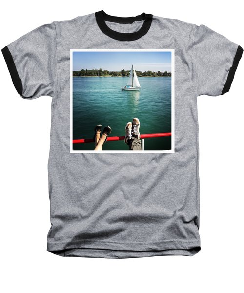 Relaxing Summer Boat Trip Baseball T-Shirt