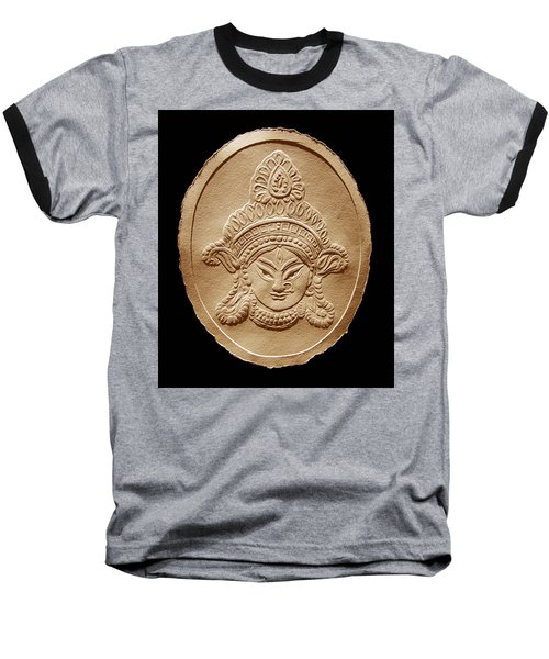 Relief Drawing Of Goddess Durga Devi  Baseball T-Shirt by Suhas Tavkar