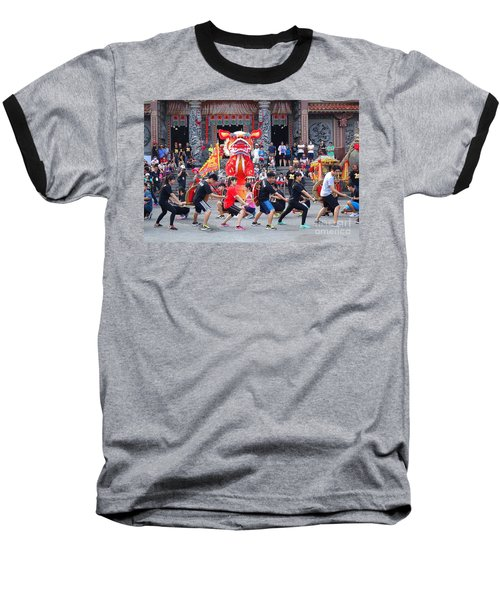 Baseball T-Shirt featuring the photograph Religious Martial Arts Performance In Taiwan by Yali Shi
